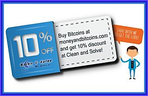 Money and Bitcoins 10% discount